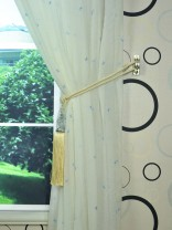 Whitehaven Bow Embroidered Custom Made Sheer Curtain