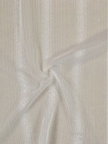 QY7151SIB Laura Snow Striped Tab Top Sheer Curtains