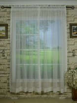 QY7151SJE Laura Sheer Solid Plain Dyed Rod Pocket Curtains