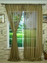 QY7151SKA Laura Striped Versatile Pleat Sheer Curtain
