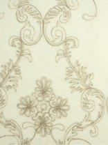Venus Embroidery Floral Damask Custom Made Sheer