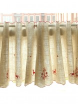 Lind Elk Embroidered Ready Made Eyelet Kitchen Cafe Curtains