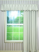 Solid Double Pinch Pleat Valance and Curtains with Gimp Fabric Trim Custom Online