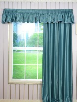 Solid Pencil Pleat Valance and Curtains Custom Online