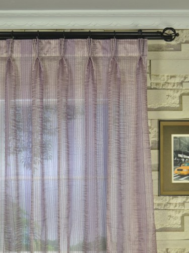 Qy7151sck Laura Colourful Striped Triple Pinch Pleat Sheer