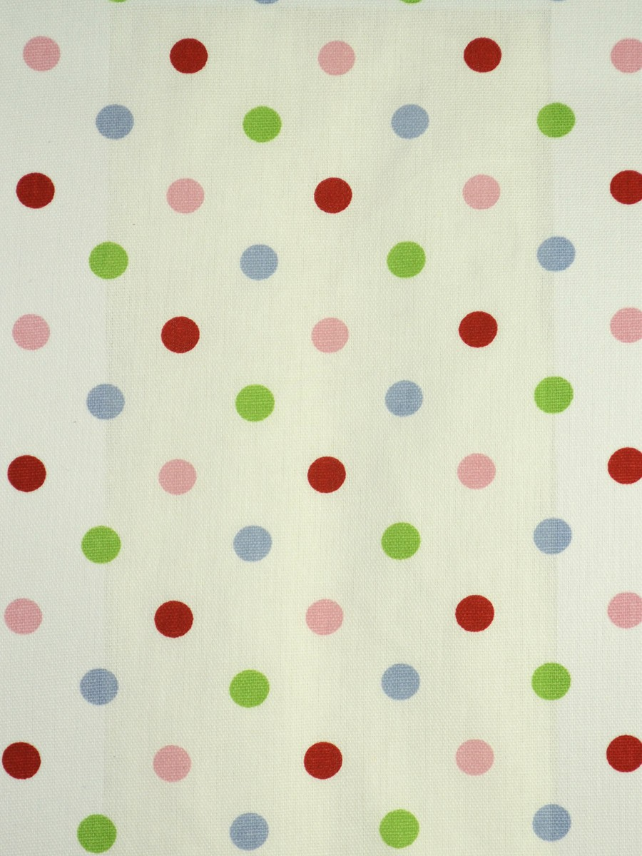 Whitehaven kids house polka dot printed cotton fabric for Printed cotton fabric