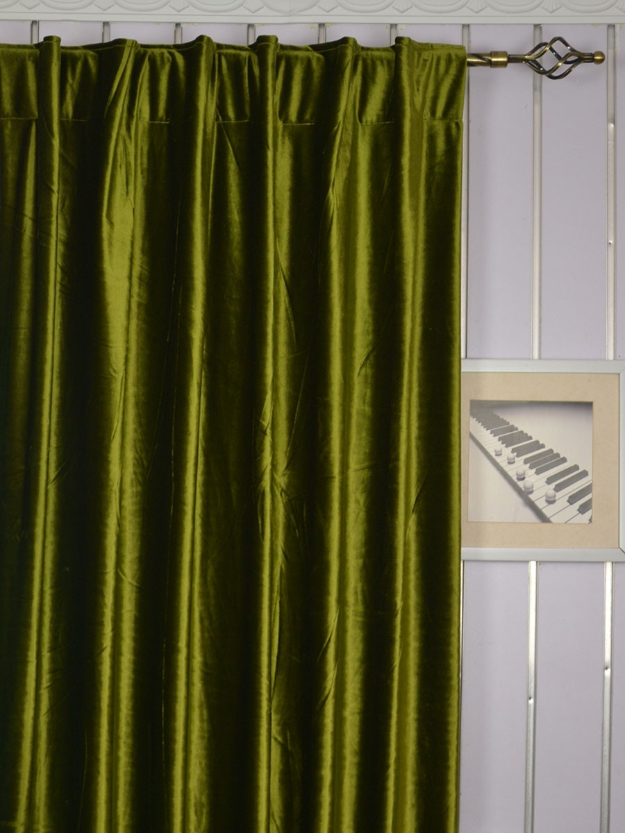 hotham green and blue plain ready made concealed tab top. Black Bedroom Furniture Sets. Home Design Ideas