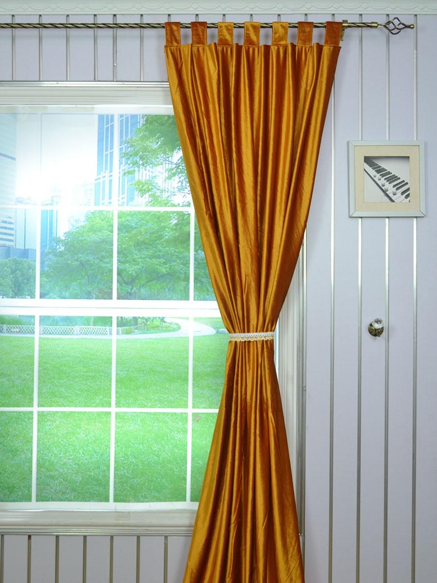 Hotham Brown Plain Ready Made Eyelet Blackout Velvet Curtains ...