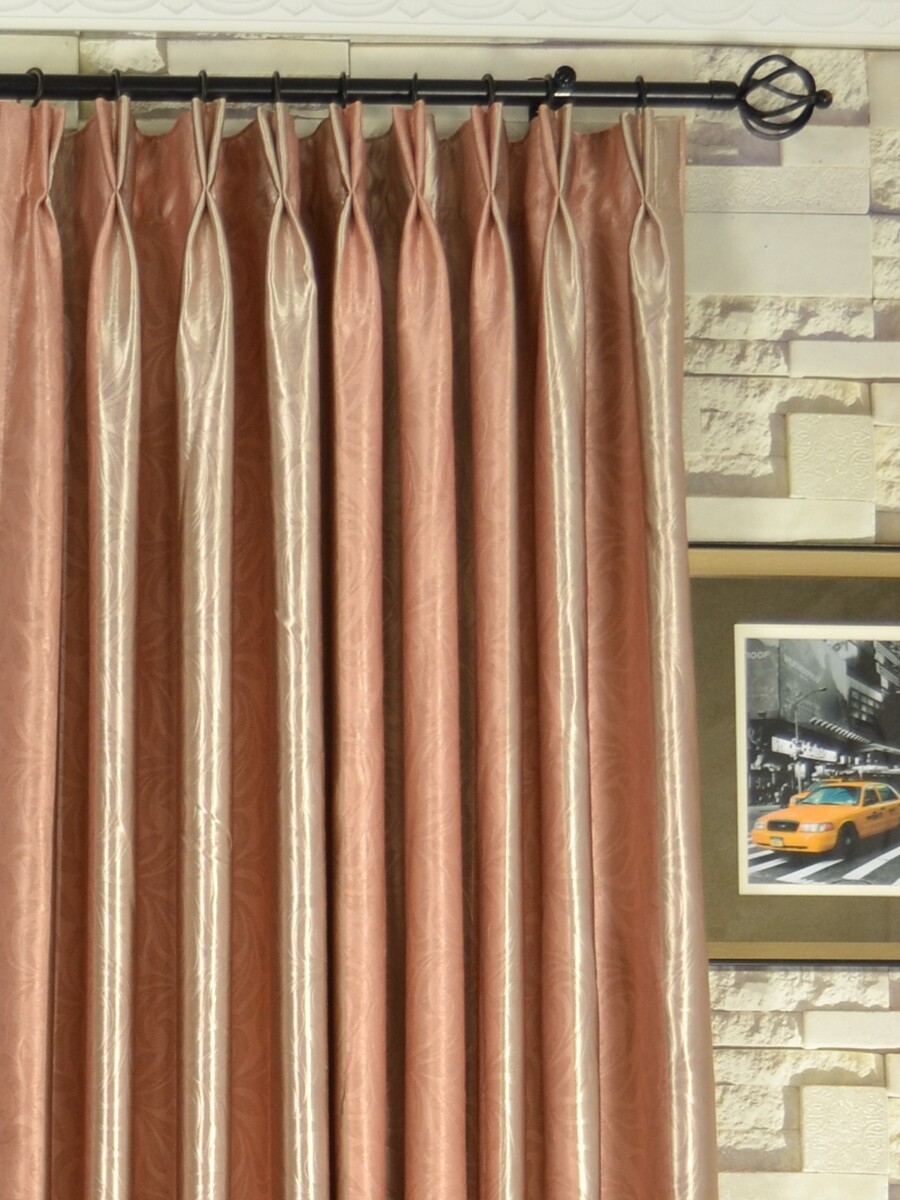 QY3241GC Cooper Creek Embossed Striped Double Pinch Pleat Curtains ... for Double Pleated Curtains  45jwn