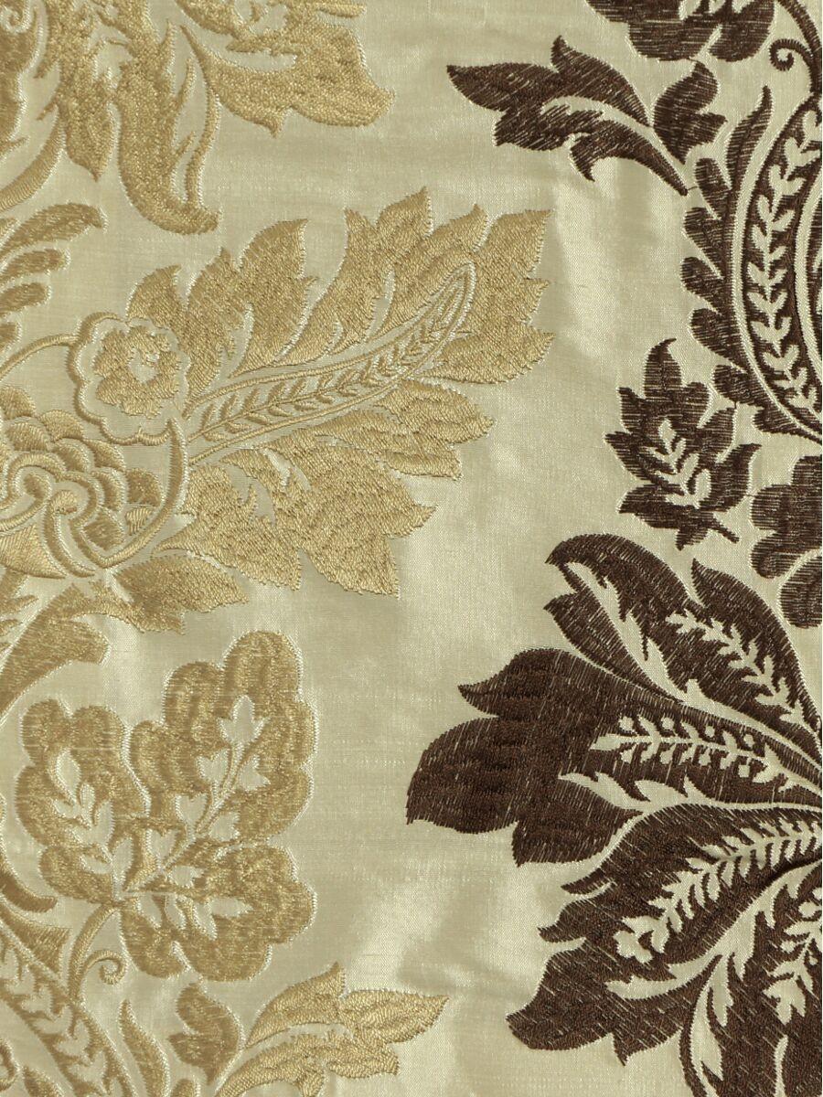 Halo Embroidered Vase Damask Dupioni Silk Custom Made