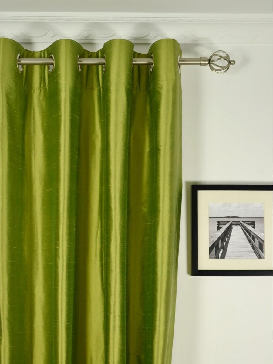 pole pocket ivory curtain drape curtains barn dupioni pottery silk au media