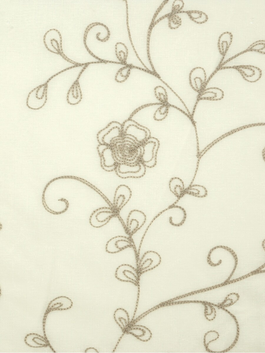 Venus natural embroidery flowers fabric sample custom
