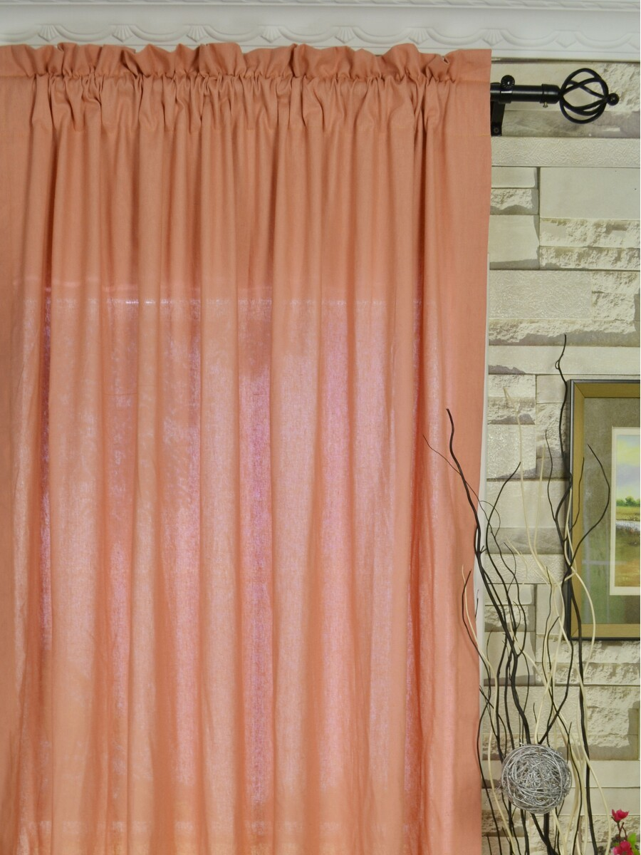 Peach curtains drapes - Qyk246see Eos Linen Red Pink Solid Rod Pocket Sheer Curtains Color Light Coral