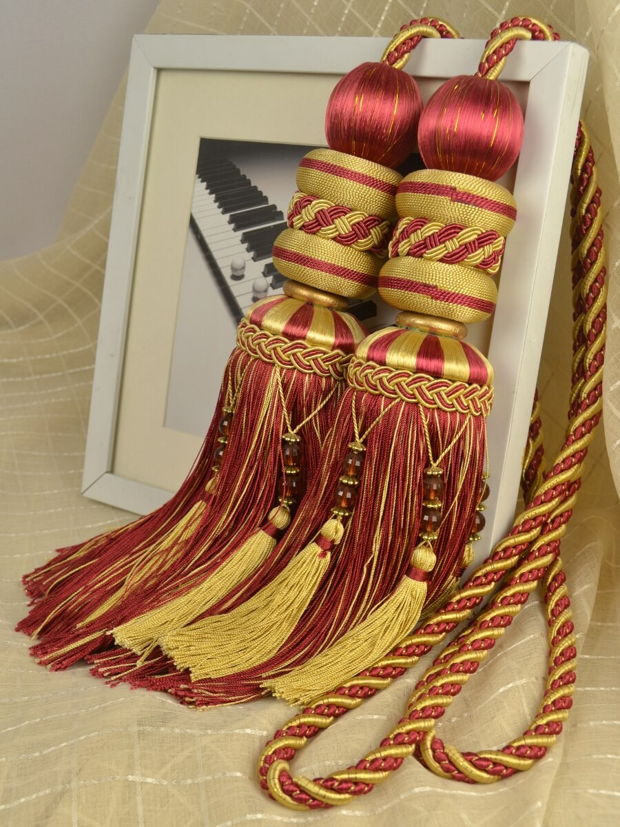 3 Colors Qym05 Curtain Tassel Tiebacks Custom Curtains