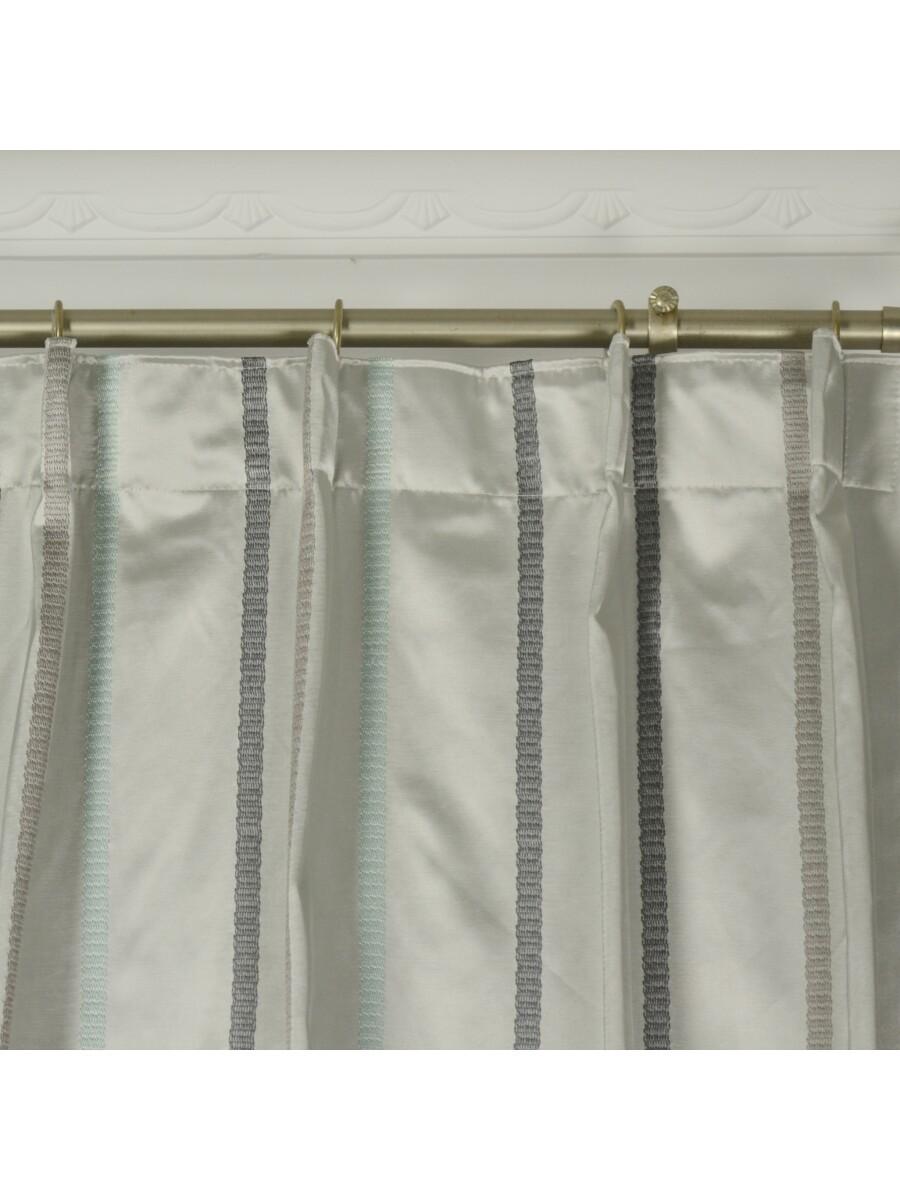 QYX104AJ Mirage Embroidered Striped Single Pinch Pleat Curtains ... for Single Pinch Pleat Curtains  150ifm