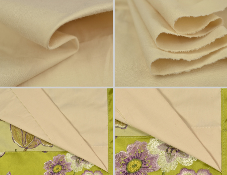 The Color Of Cotton Lining Is Beige As Show In Picture Below Which Gives Curtains A High End Look Knitted On