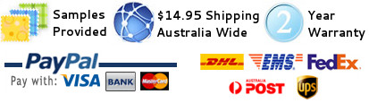 Samples Provided, Shipping Australia Wide, 2-Year Warranty, Pay with PayPal