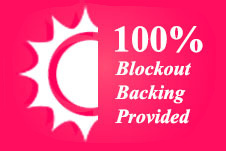 100% Blockout with Blockout Backing