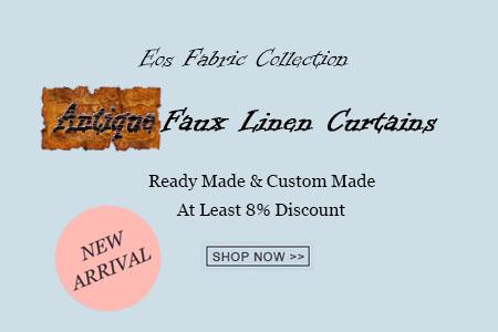 Eos Antique Faux Linen New Arrival Curtains