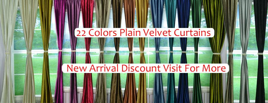 New Arrivals Plain Velvet Curtains